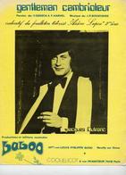 PARTITION JACQUES DUTRONC - GENTLEMAN CAMBRIOLEUR - 1973 - FEUILLETON TELEVISION ARSENE LUPIN - TB ETAT - - Otros