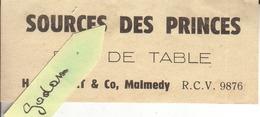 07-MALMEDY-Etiquette Brasserie De Malmedy(Eau De Table) - Bière