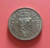 GRAN BRETAGNA  - 1955  Moneta 1 SHILLING  - Elisabetta II - 1971-… : Monete Decimali