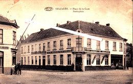 "SELZAETE - Place De La Gare - Statieplein - Avec Café-Billard ""aux Armes De Zeelande - Zelzate"