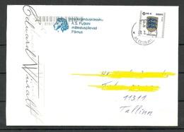 Estland Estonia 2019 Domestic Letter With Sonderstempel Special Cancel Puškin Days In Pärnu - Estonia
