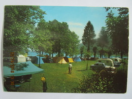 CP 38 CHARAVINES Les BAINS  -   Le Camping Tentes Caravanes Voitures Au Bord Du Lac De Paladru - Charavines