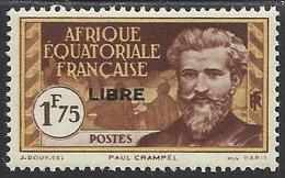 AFRIQUE EQUATORIALE FRANCAISE - AEF - A.E.F. - 1941 - YT 120** - A.E.F. (1936-1958)
