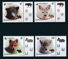 2012 Romania, Roumanie, Rumania - Animals Bear/Fox/Wolf/Deer/Nature/Wildlife 4v., MNH - Bears