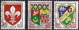 France 1960 - Mi 1274/76/1321 - YT 1230/30A/32 ( Coats Of Arms ) - Frankreich