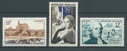 FRANCE 1955 . N°s 1019 , 1020 Et 1021. Neufs ** (MNH) - France