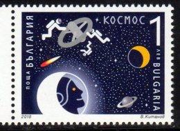 BULGARIA, 2018,MNH,SPACE, COSMONATUS, SATURN,1v - Space