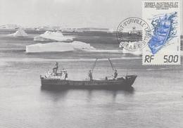 Carte  Maximum  1er  Jour   T.A.A.F    Bateau   LADY  FRANKLIN    1983 - Briefe U. Dokumente