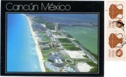 MEXICO  MESSICO  CANCUN  Vista Hacia El Sur De La Isla  Nice Stamps - Messico
