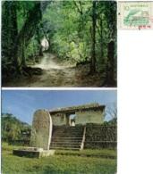 GUATEMALA  EL PETÉN  Ruinas Mayas De El Ceibal Nice Stamp + EMA Stamp Aseguradora General - Guatemala