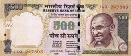 """INDIA 500 RUPEES 2013 VF P-106i """"free Shipping Via Registered Air Mail"""" - India"""