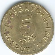 Azerbaijan - 1992 - 5 Qapik - KM1 - Scarce Brass Version - Azerbaïdjan