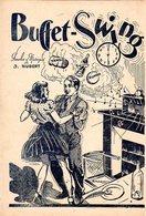 """DANSE - BELLE PARTITION """" BUFFET SWING TANGO RUMBA """" -194? - J. HUBERT / R. MAGNIN ILLUSTRATEUR - EXCELLENT ETAT. - Autres"""