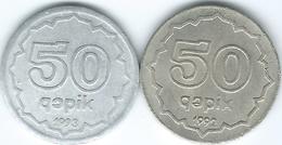 Azerbaijan - 1992 - 50 Qapik (KM4) & 1993 (KM4a) - Azerbaïdjan