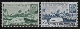 AFRIQUE EQUATORIALE FRANCAISE - AEF - A.E.F. - 1941 - YT 90/91** - MNH - A.E.F. (1936-1958)