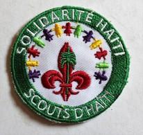 écusson Brodé Scouts D'Haïti Solidarité Haïti - Scudetti In Tela