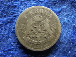 SWEDEN 1 KRONA 1879, KM747 - Suède