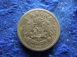 SWEDEN 1 KRONA 1887, KM747 - Suède
