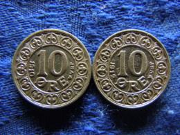 DENMARK 10 ÖRE 1910, 1912, KM807 - Danemark