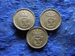 DENMARK 10 ÖRE 1917, 1918 KM818.1, 1919 KM818.2 - Danemark