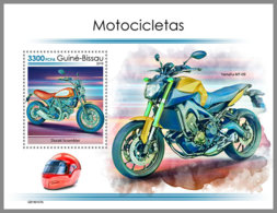 GUINEA BISSAU 2019 MNH Motorcycles Motorräder Motos S/S - OFFICIAL ISSUE - DH1907 - Moto
