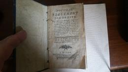 NOUVEAU RÈGLEMENT DES DROITS - Livres, BD, Revues