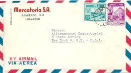 "Airmail Brief  ""Mercatoria SA, Lima"" - New York             1947 - Perù"