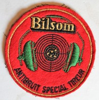 écusson Rare Brodé Marque Bilson Casque Antibruit Spécial Tireur Tir Sportif - Ecussons Tissu
