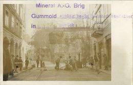 ZÜRICH, Mineral A.-G. Brig, Gummoid-Belag Beim Bahnhof Stadelhof (1920s) Foto-AK - ZH Zurich