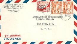 """Airmail Brief  """"Sociedad Comercial Suizo-Peruana, Lima""""              1946 - Perù"""