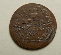 Germany Nassau 1/4 Kreuzer 1817 - [ 1] …-1871: Altdeutschland