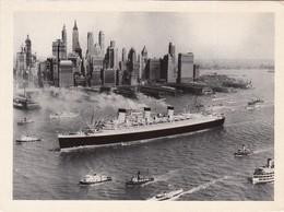 CP - BATEAU QUEEN MARY 1936 à NEW YORK - Ecrite - Paquebots