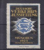 DEUTSCHE VERKEHRS AUSSTELUNG - MUNCHEN 1925 - SUPERBE - Erinnophilie