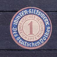 WINTER-HILFSWERK - DES DEUTSCHEN VOLKES - 1 REICH SPFENNIG. - TTB - Erinnophilie