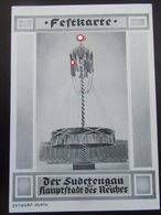 Postkarte - Propaganda - Festkarte Sudetengau - Briefe U. Dokumente