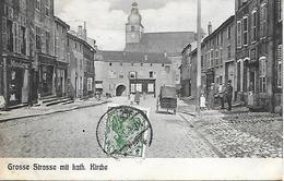 BOUZONVILLE -  1902-  GROSSE STRASSE MIT KATH. KIRCHE - Autres Communes