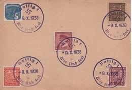 Germany 1938,  Aussig..  Sudetenland - Sudeten -  Sudetengau - Sudety,  - Interesting - Storia Postale