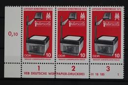 DDR, MiNr. 1782, Dreierstreifen, Ecke Li. Unten, DV 1, Postfrisch / MNH - [6] République Démocratique