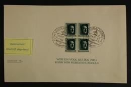 Deutsches Reich, MiNr. Block 7 Auf Brief Ab Steinach Nach Hamburg - Allemagne