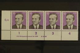DDR, MiNr. 2110, Viererstreifen, Ecke Li. Unten, DV 4, Postfrisch / MNH - [6] République Démocratique