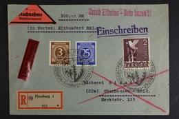 Gem.-Ausgaben, MiNr. 960 U.a. Auf EBF/Eilbote/Nachnahme Ab Flensburg - Zone AAS