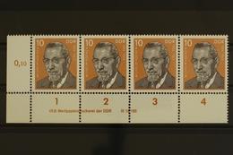DDR, MiNr. 2109, Viererstreifen, Ecke Li. Unten, DV 4, Postfrisch / MNH - [6] République Démocratique
