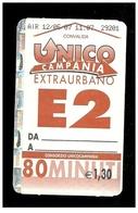 Biglietto Autobus Italia - Unico Campania - E.2 Extraurbano 80 Min. Euro 1.30 - Autobus