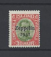 ISLANDE. YT  PA  N° 9  Neuf **   1931 - Poste Aérienne