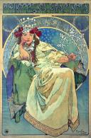 Alphonse Mucha Princess Hyacinth Advertising Postcard : Size 15x10 Cm. Aprox. - Publicidad