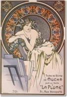 Alphonse Mucha Toutes Les Oeuvres De Mucha, 1898 Advertising Postcard : Size 15x10 Cm. Aprox. - Publicidad