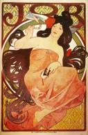 Alphonse Mucha Job 1897 Lithograph Advertising Postcard : Size 15x10 Cm. Aprox. - Publicidad