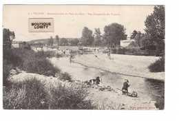 03 Vallon En Sully Reconstruction Du Pont Du Cher Vue D' Ensemble Des Travaux Guerre Cachet Militaire 1915 - Autres Communes