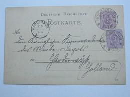1886 , BODENBURG,  Klarer  Stempel Auf   Ganzsache ,Karte - Brieven En Documenten