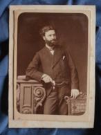 Photo Format Cabinet  Auguste Renaut Fondé De Pouvoir De Mr Porges Banquier Marié En 1876  CA  1875-80 - L425 - Oud (voor 1900)
